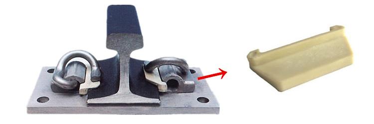 E clip rail fastening system includes E type rail insulator + rail shoulder + e rail clips