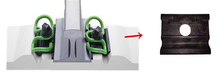 SKL clip rail fastening system includes SKL type rail insulator + SKL rail clips + rail screw spikes